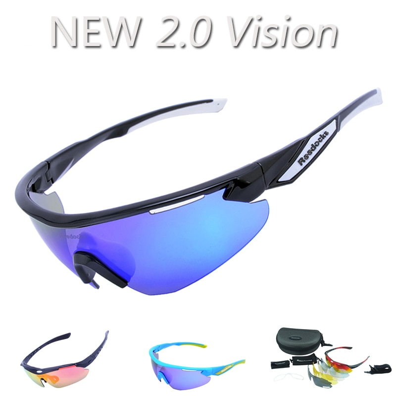 NEW ARRIVAL 5 Lens Full Color Men Polarized Cycling Glasses Outdoor Sport Bike Sunglasses 2.0 Vision Goggles Racing Eyewear