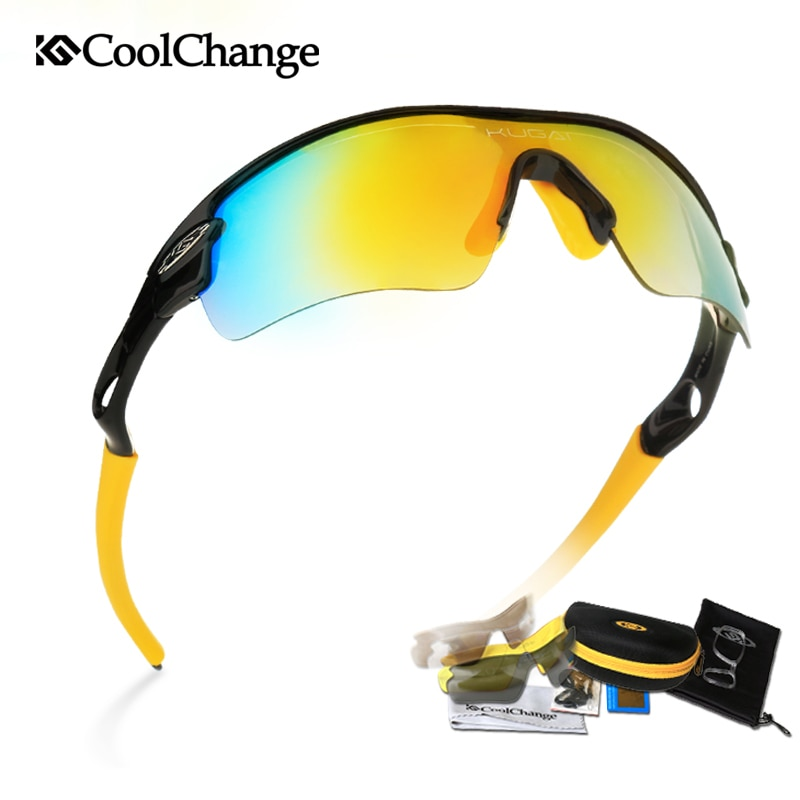 Coolchange Polarized Cycling Bike Sun Glasses Sunglasses Bike Outdoor Sports Protection Goggles 5 Lens Bicycle Eyewear Accessory