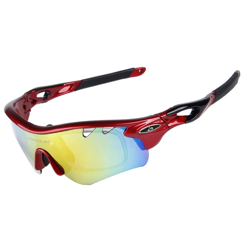 Cycling Glasses Eyewear Polarized Cycling Sunglasses Mountain Road Bike Bicycle Glasses TR90 Goggles UV400 Ciclismo 5 Lens
