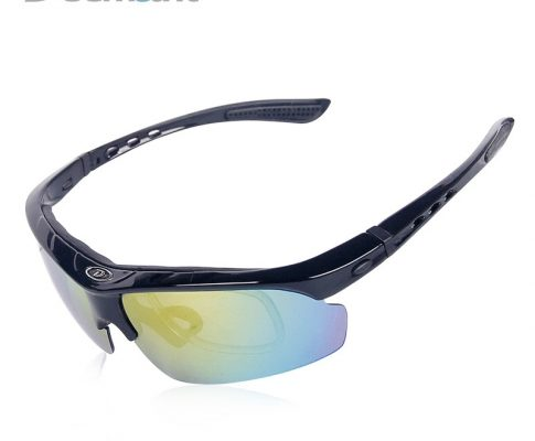 Hot New Cycling Glasses Polarized Sports Eyewear Bicycle Riding Wind Sun UV400 Dirt Protection Goggles Spectacles 5 PC lens Myop Review
