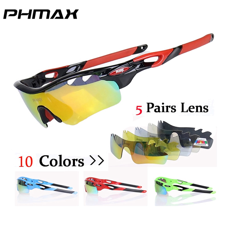 PHMAX 2018 Polarized Oculos Ciclismo Cycling eyewear/Mountain Bike Goggles Bicycle Cycling Glasses/UV400 Cycling Sunglasses