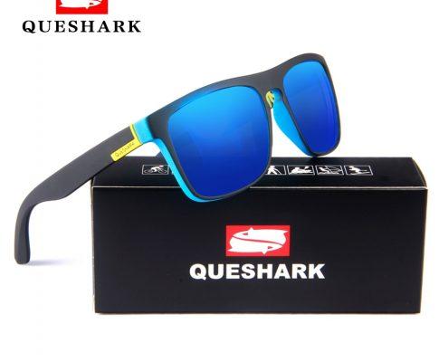 QUESHARK Cycling Polarized Sunglasses Printing TR90 Frame Bike Goggles Sports Camping Hiking Fishing Glasses Bicycle Eyewear Review