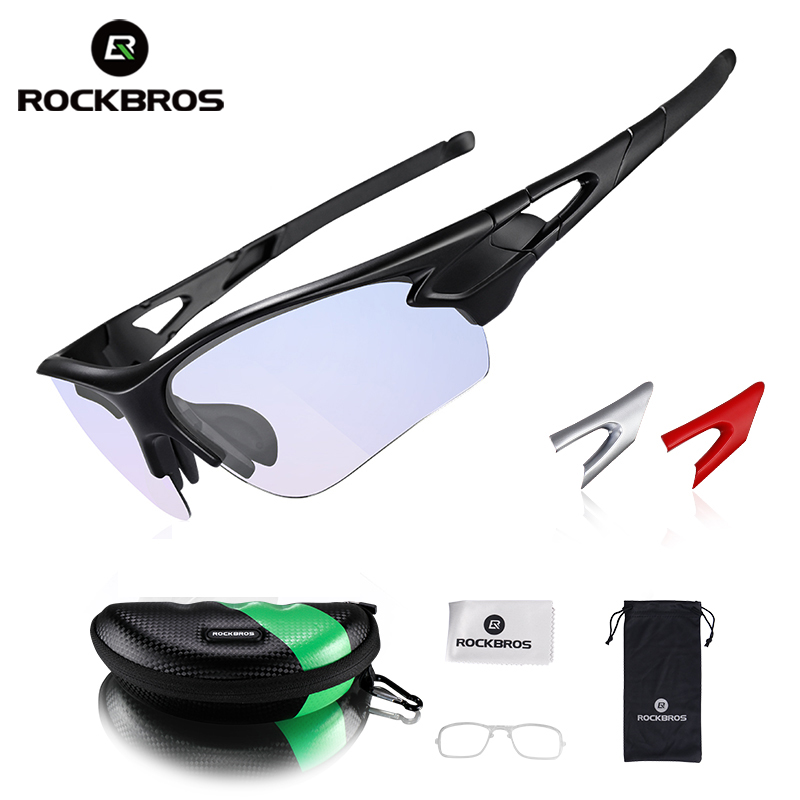 ROCKBROS Cycling Glasses Anti-fog Bike Glasses Outdoor Sports MTB Bicycle Sunglasses Goggles Eyewear Myopia Frame Bike Equipment