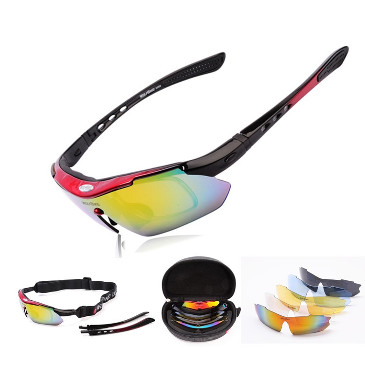 Hot Sale Polarized Sports Men Sunglasses Road Cycling Glasses Mountain Bike Bicycle Riding Protection Goggles Eyewear 5 Lens