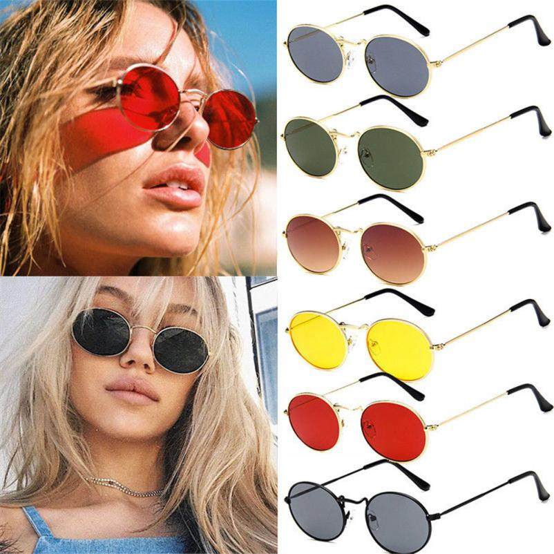 NEW Professional Cycling Eyewear Vintage Retro Oval Sunglasses Ellipse Metal Frame Glasses Trendy Shades Protective Sunglasses