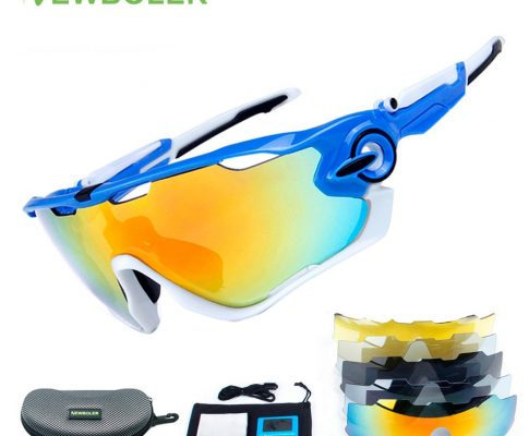 NEWBOLER Polarized Cycling Sunglasses UV400 Cycling Glasses TR90 Bike Bicycle Eyewear Boys/Girls Outdoor Sport Goggles 5 Lenses Review
