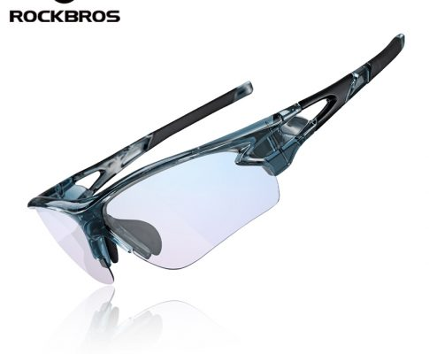ROCKBROS Bicycle Men's Sunglasses MTB Photochromic Glasses Anti Blue Rays Computer Outdoor Sports Eyewear with Myopia Frame Review