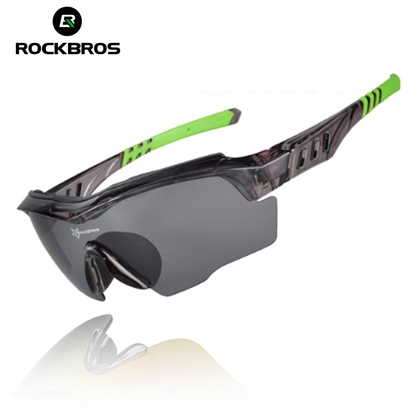 ROCKBROS Bicycle Sunglasses Riding Bike Sun Glasses One Polarized Lens& 4 Lenses Cycling Glasses Eyewears Goggles 9 Colors