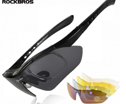 ROCKBROS Polarized Cycling Glasses Outdoor Sports Bicycle Sunglasses Bike Goggles Cycling Eyewear Myopia Frame 5 Lenses Glasses Review