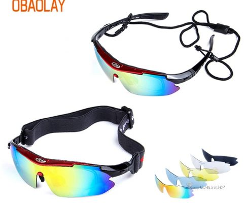 UV400 Motorcycle Cycling Women Men Sport Glasses Set Polarized Ski Goggles Oculos Eyewear Sunglasses for Fishing Bicycle 5Lens Review
