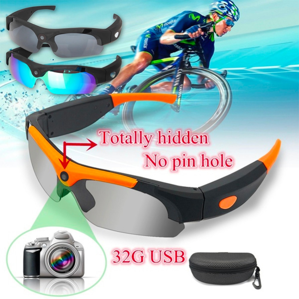 Cycling Glasses HD1080P Outdoor Eyewear Video Recorder Sunglasses Camera Recording DVR Glasses