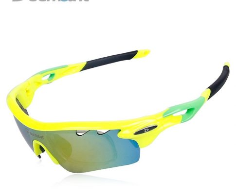 Deemount Hot Cycling Polarized Glasses Bicycle Riding Sun UV400 Protection MTB Goggles Eyewear Clear View 5 Lenses Myopia Frame Review