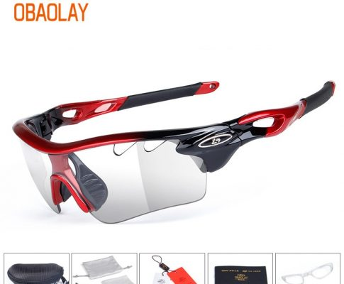 Obaolay Photochromic Cycling Glasses Outdoor Sports Bike Glasses MTB Road Riding Goggle Bike Eyewear Bicycle Sunglasses Review