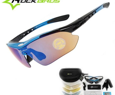 RockBros Polarized 5 Lens Outdoor Sports Hiking Climb Bicycle Cycling Sun Glasses Bike Sunglasses TR90 Eyewear Goggles Review