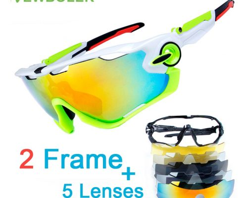 2 Frame Polarized Cycling Glasses Racing Sport Cycling Sunglasses Men TR90 UV400 Cycling Eyewear Bike Bicycle Goggles 5 Lens Review