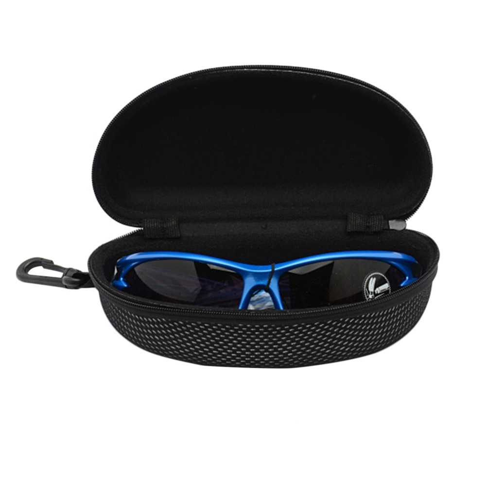 Cycling Glasses Box Riding Glasses Case Outdoor Sports Riding Bike Retro Black Glasses Box Zipper Box Riding Eyewear Accessories