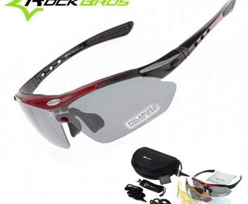 Hot! New RockBros Polarized 5 Lenses Cycling Sun Glasses Outdoor Sports Bicycle MTB Road Bike Sun Glasses TR90 Goggles Eyewear Review