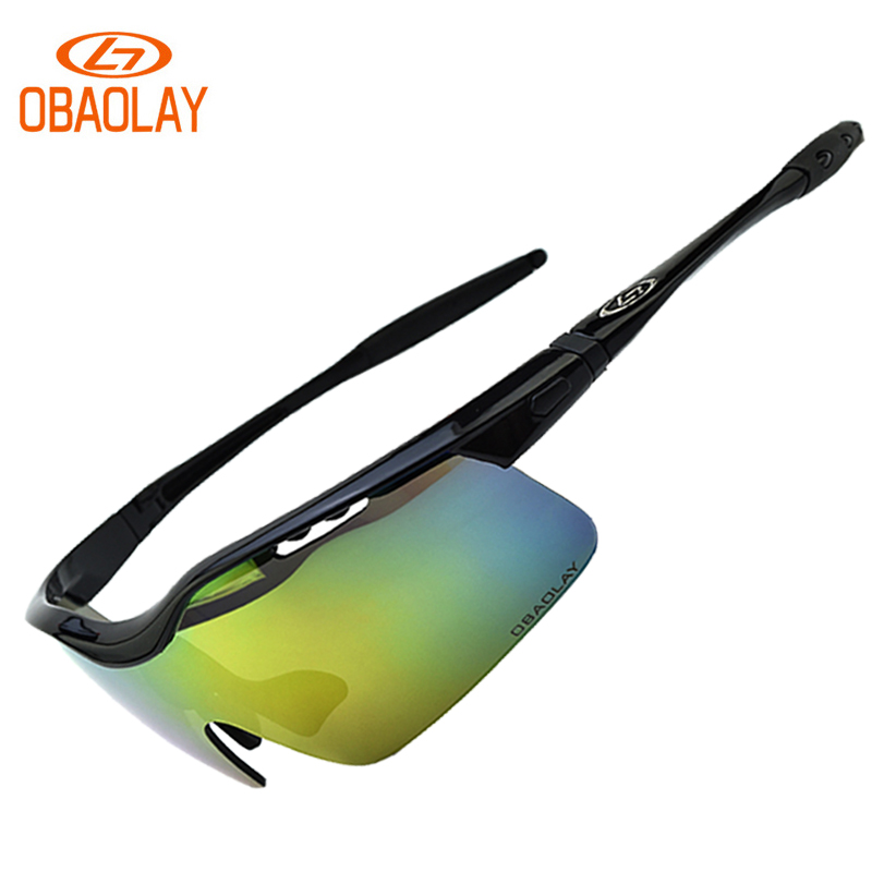 Polarized Bicycle Glasses Cycling Sunglasses Men Women Sport Cycling Eyewear Mountain Bike Goggles MTB 5 Lenses Myopia Frame