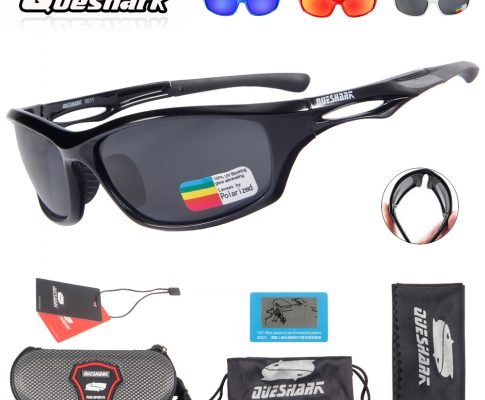 Queshark Men Women Cycling Polarized Sunglasses Bike Glasses TR90 Uv400 HD Lens Bicycle Goggles Fishing Glasses Riding Eyewear Review