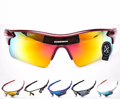 ROBESBON Anti-uv Polarized for Biking Cycling Glasses Bike Outdoor Sports Bicycle Unisex Windproof Eyewear Goggles Sunglasses Review
