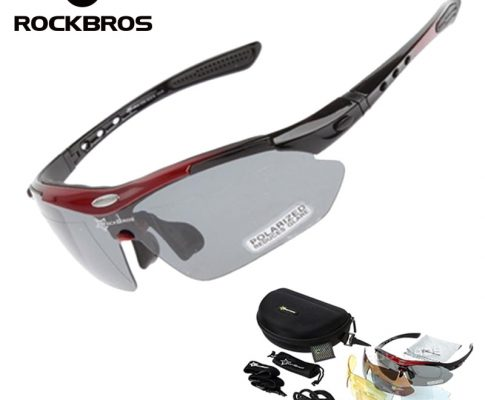 RockBros Polarized Cycling Glasses Unisex Outdoor Sports Bike Bicycle Frameless Sunglasses TR90 Goggles Windproof 5 Lens Eyewear Review