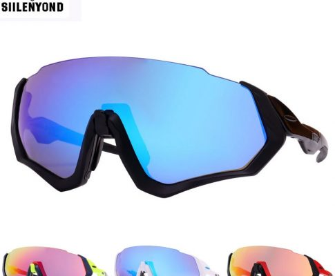 Siilenyond 3 Lens Polarized Cycling Sunglasses Men Outdoor Sport Bike Glasses Bicycle Sunglasses Cycling Glasses Cycling Eyewear Review