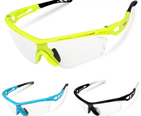 Unisex Bike Riding Glasses Windproof Clear Photochromic Cycling Glasses Eyewear Sports Sunglasses Bicycle Protection Goggles Review