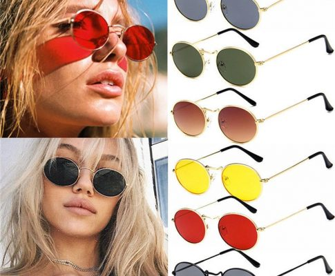 Vintage Retro Oval Sunglasses Ellipse Metal Frame Glasses Trendy Shades sport glasses eyewear Cycling glasses #4AP13 Review