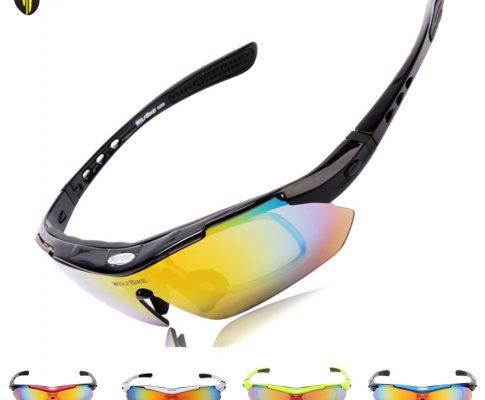 WOLF BIKE Cycling Polarized Outdoor Sports Bike Cycling Glasses Driving Racing Goggles Eyewear 5 Lenses Bicycle Glasses Review