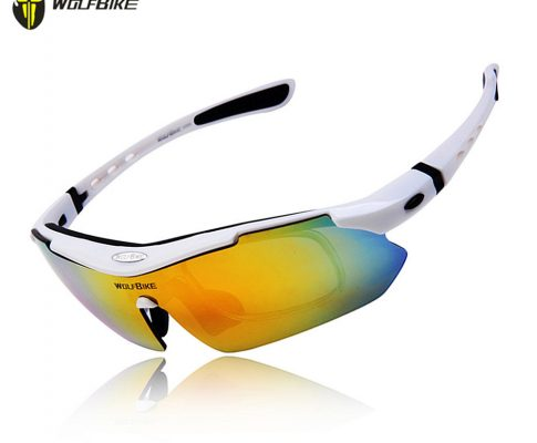 WOLFBIKE Polarized Cycling Glasses Bicycle Running MTB Road Bike Fishing Eyewear Goggles Outdoor Cycling Sunglasses, 5 Lens Review
