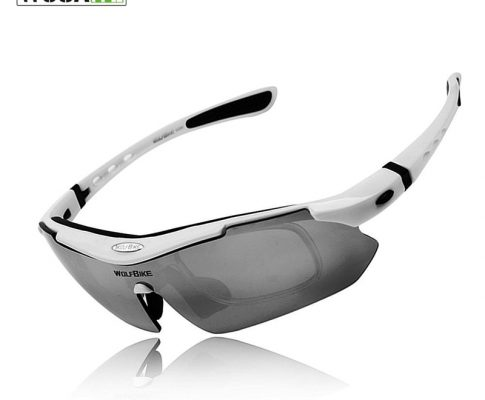 WOSAWE Polarized Cycling Sun Glasses Outdoor Sports Bicycle Glasses Bike Sunglasses TR90 Goggles Cycling Eyewear 5 Lens White Review