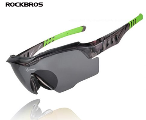 ROCKBROS Bicycle Sunglasses Riding Bike Sun Glasses One Polarized Lens& 4 Lenses Cycling Glasses Eyewears Goggles 9 Colors Review