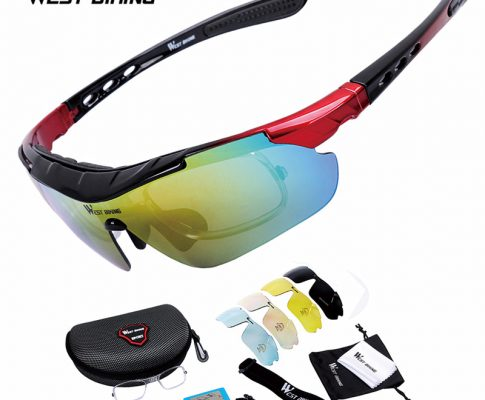 WEST BIKING Cycling Polarized Sunglases Outdoor Sport Glasses Goggle Bike Glasses 5 lens Cycling Eyewear Bicycle Sunglasses Suit Review